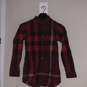 Red Checkered Burberry Shirt!